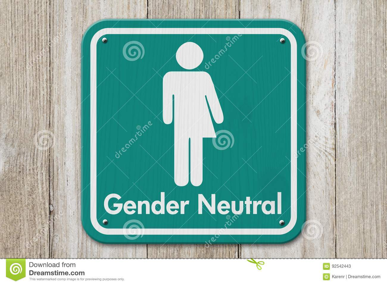 Transgender Sign With Text Gender Neutral Stock Image