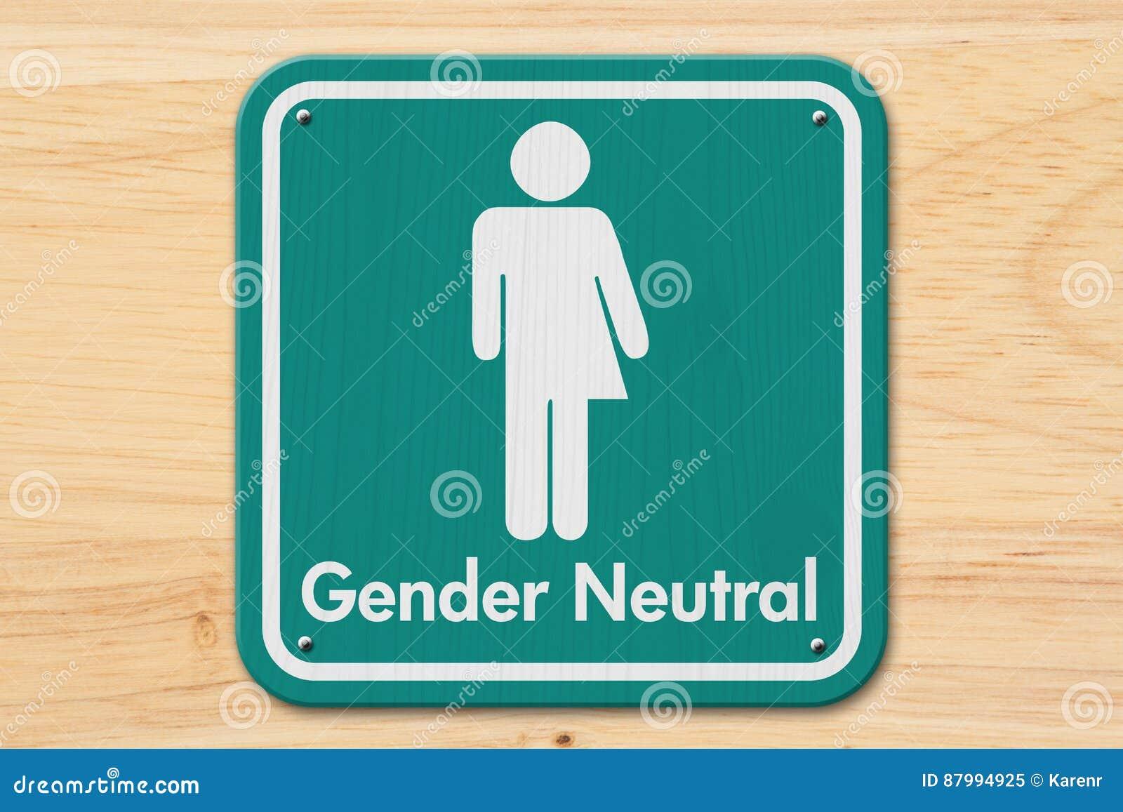 Transgenderzeichen mit Text Geschlechts-neutraler Person
