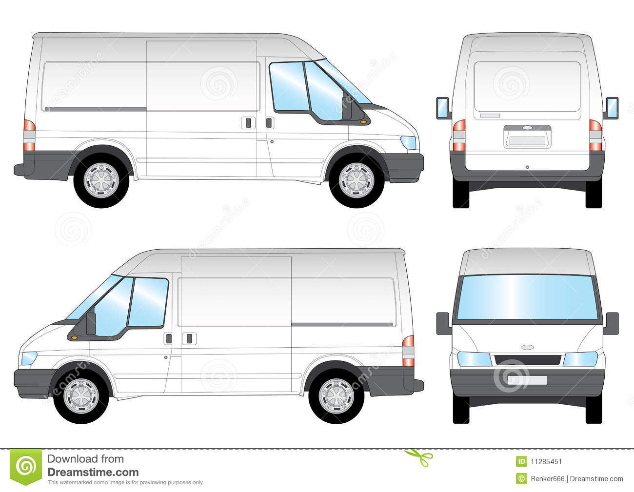 van sign writing templates - transit presentation stock vector illustration of