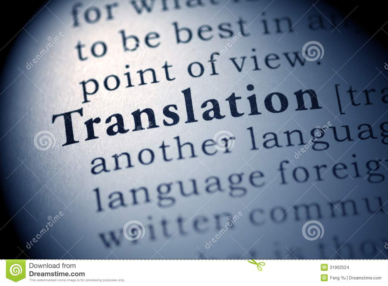 translation stock photo  image of translation  macro