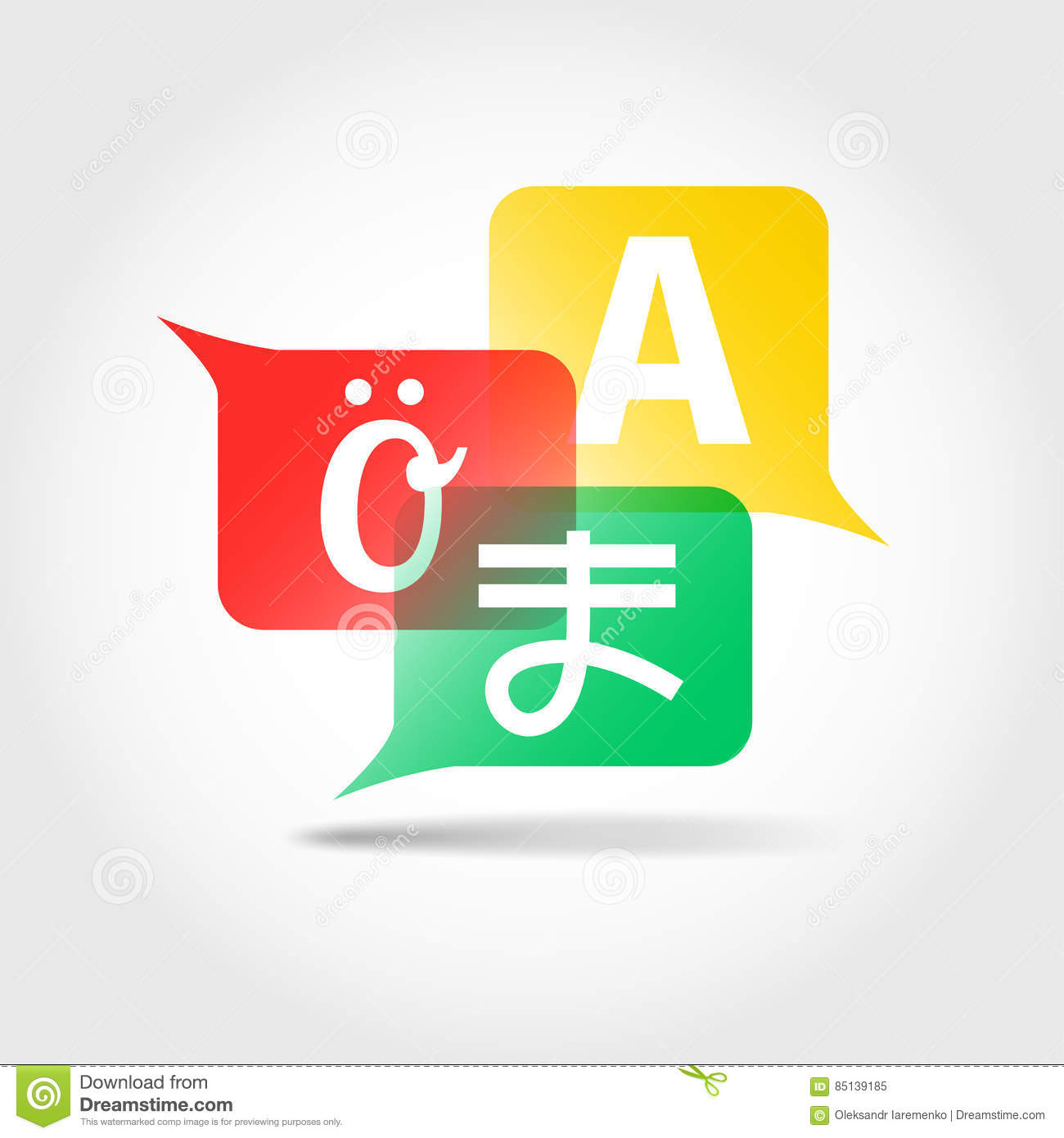 Translation Icon Speech Bubbles With Letters Of Foreign Alphabet
