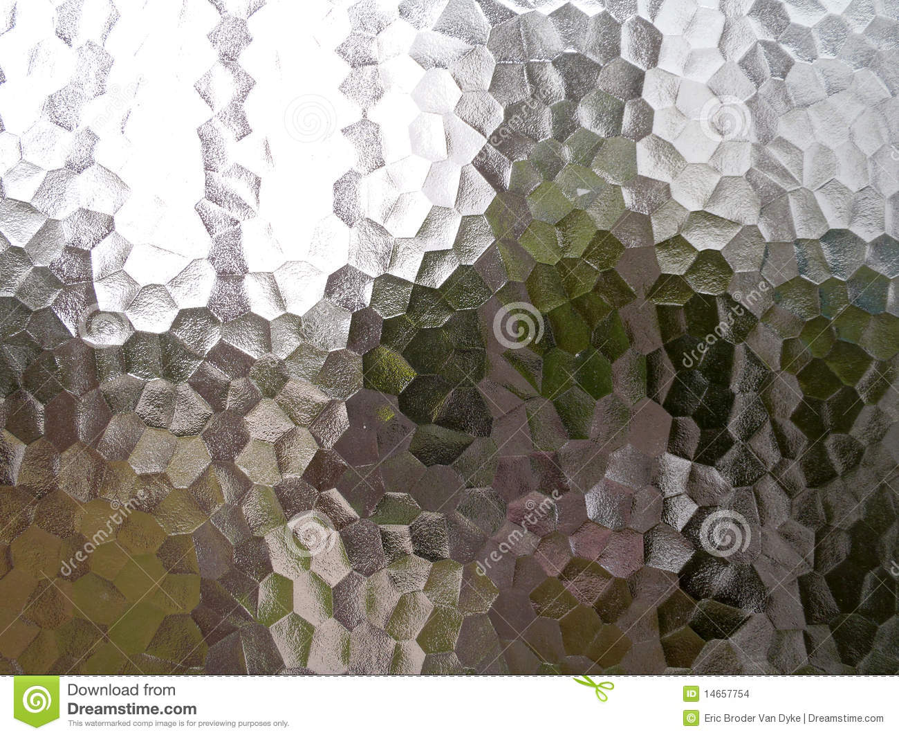 Translucent Pentagon Frosted Glass Window Stock Photo