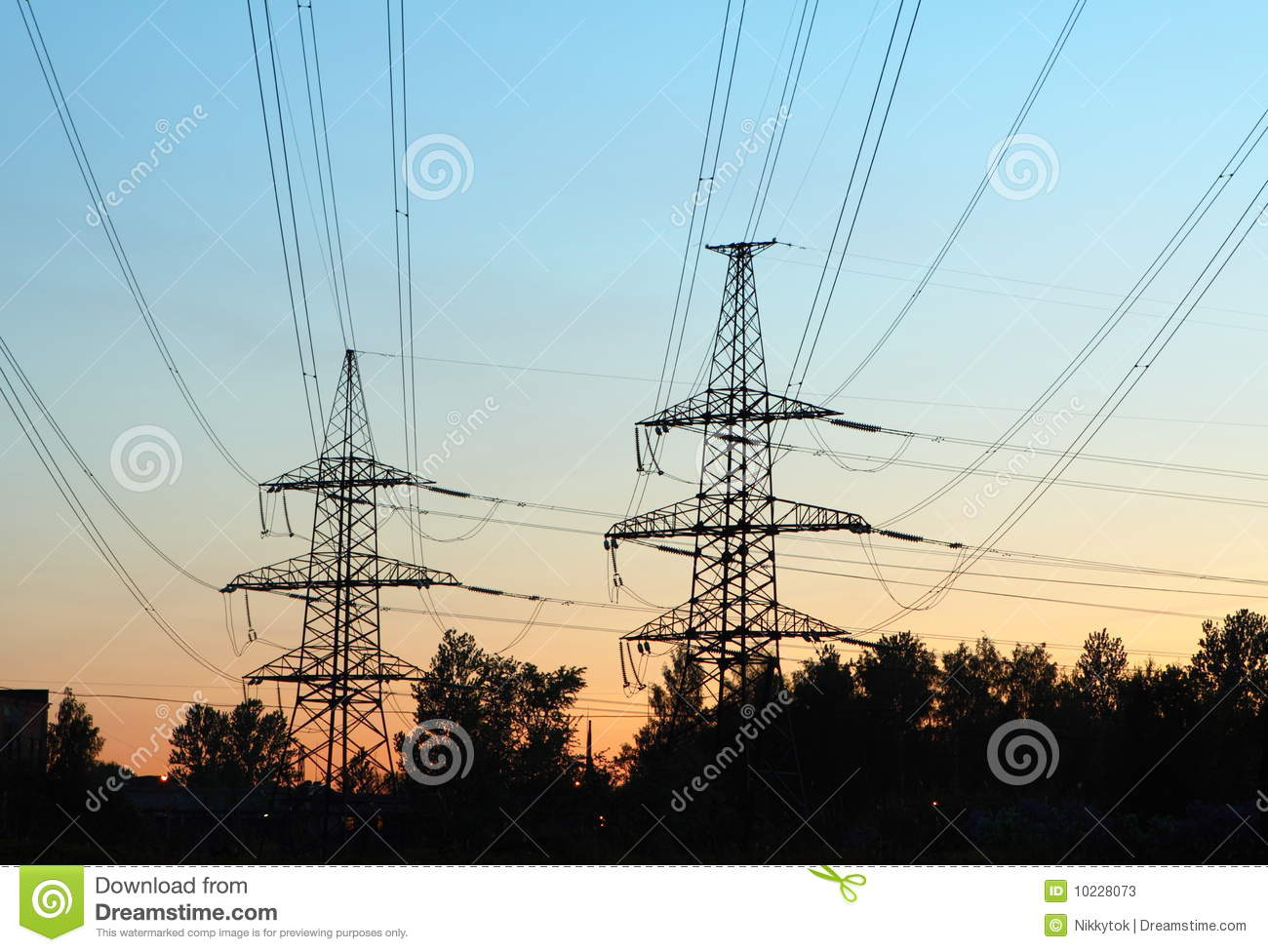 Transmission Line Towers Stock Image Image Of Line Electricity 10228073