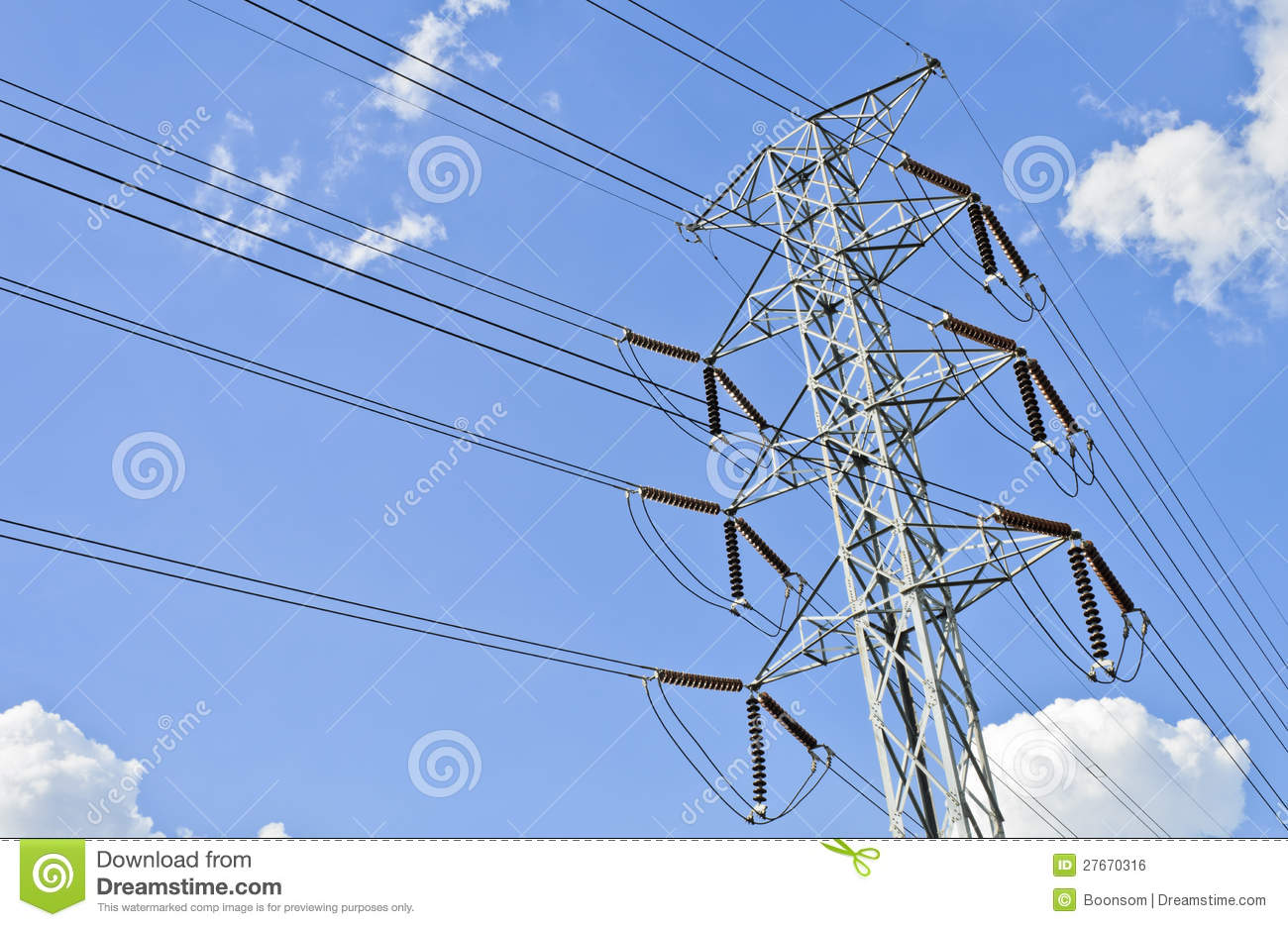 Transmission Tower Royalty Free Stock Image - Image: 27670316