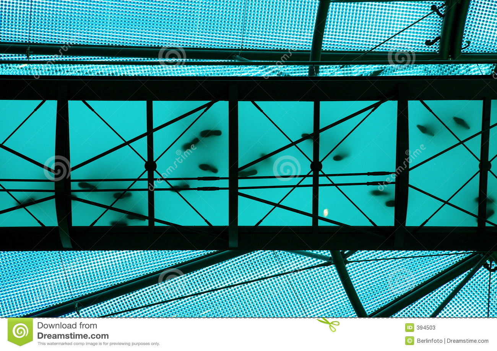 Transparante blauwe brug