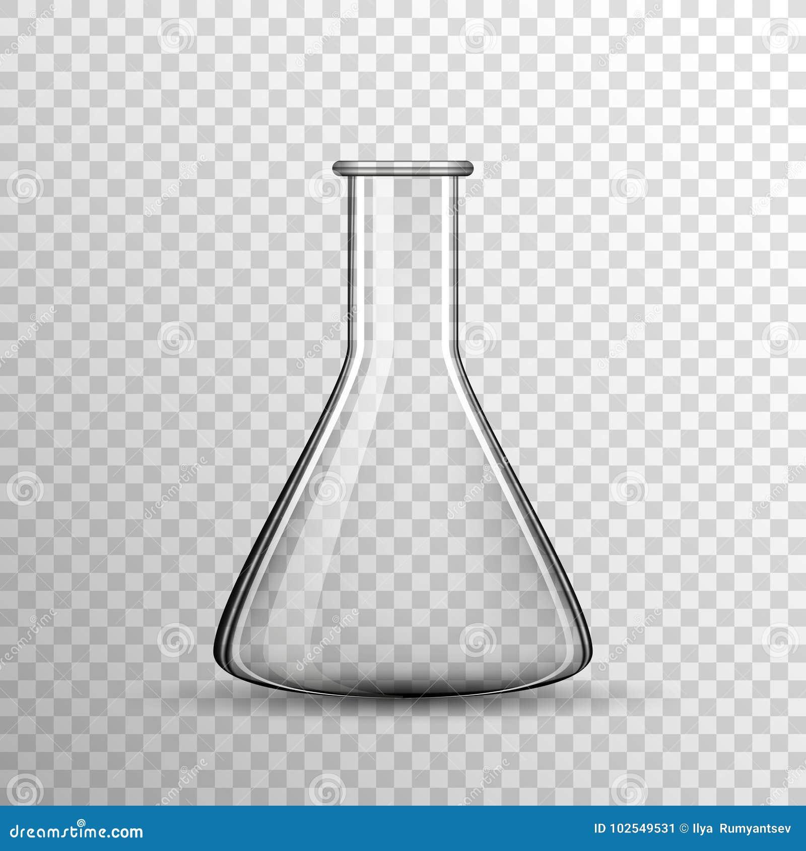Transparante Chemische glasbol, vectorfles