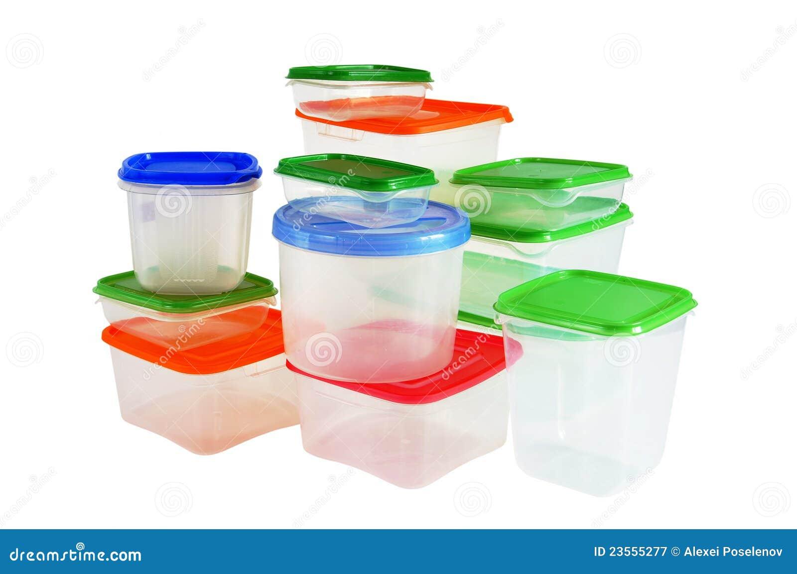 Transparante plastic dozen voor opslag van producten royalty vrije stock fotografie afbeelding - Transparante plastic tafel ...