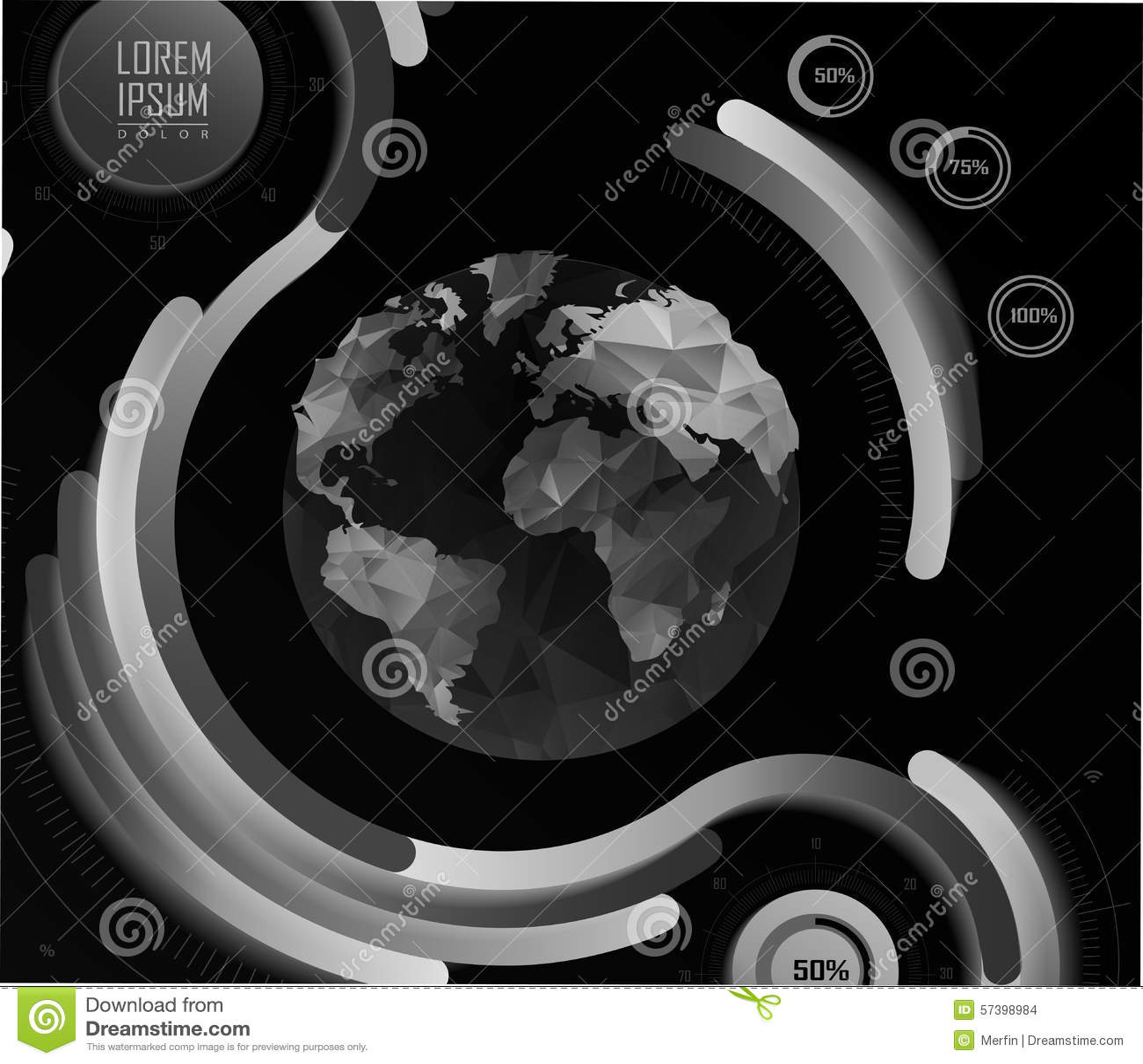 Transparante vlakke website, zaken Infographics
