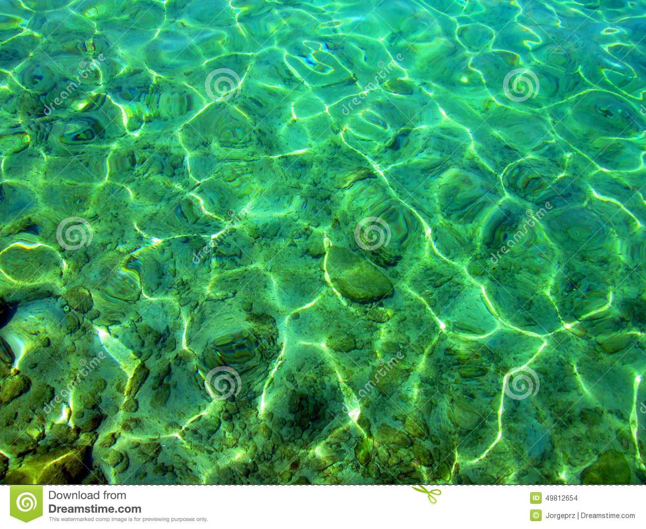 Transparency Sea Water Stock Photo Image 49812654