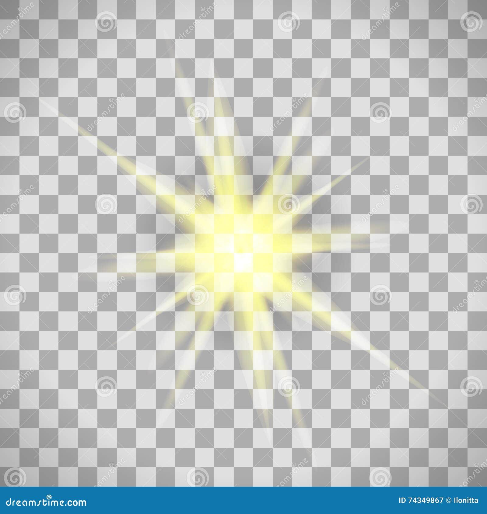 Transparent Background Star Light