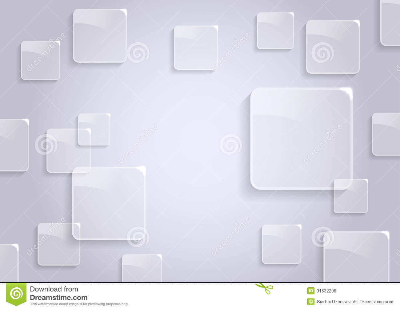 transparent background template with glossy icons stock vector