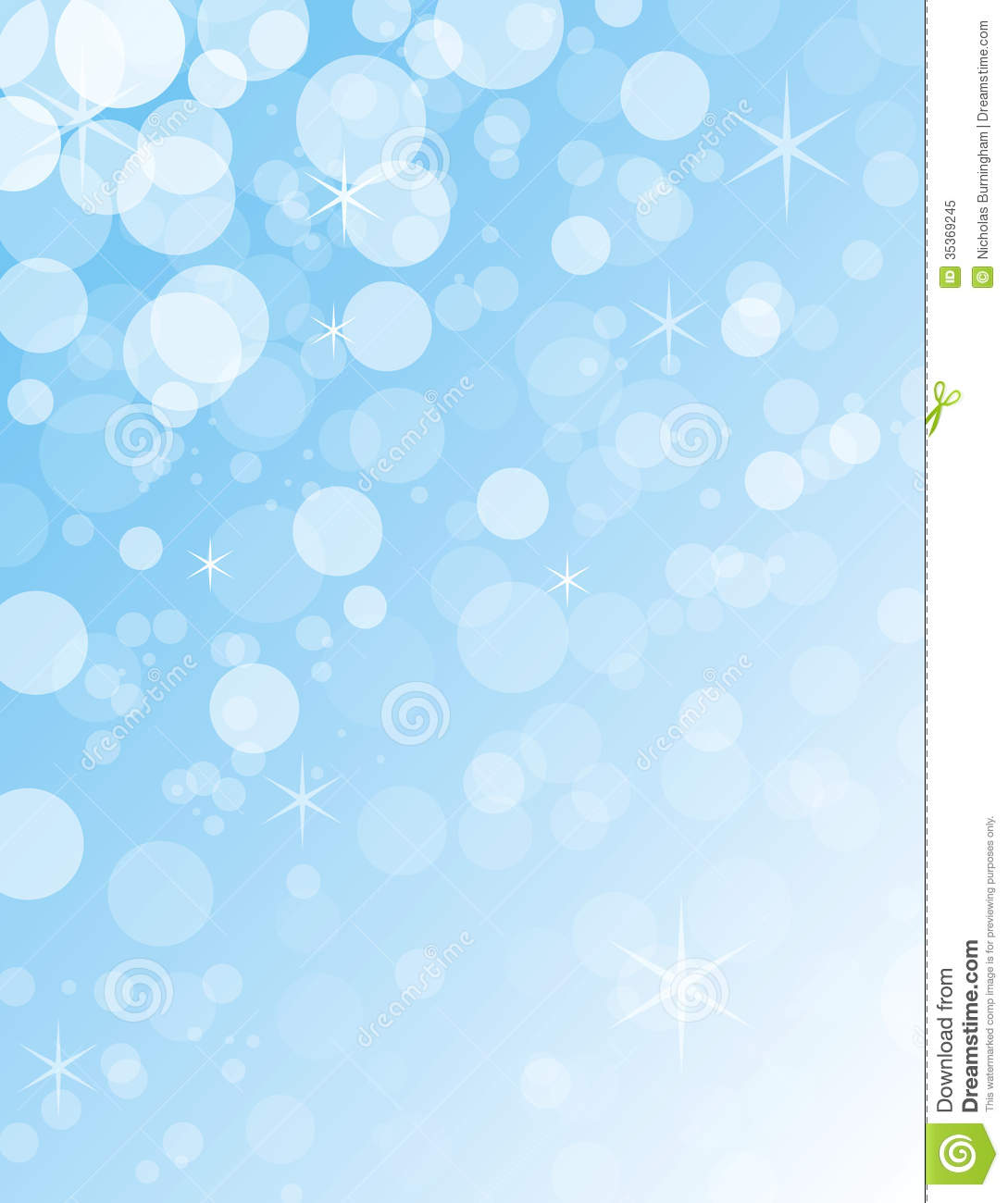 Transparent Blue And White Christmas Bokeh Balls Royalty Free ...