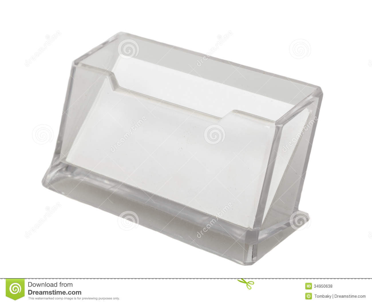 Transparent Business Card Holder Stock Photo - Image of badge ...
