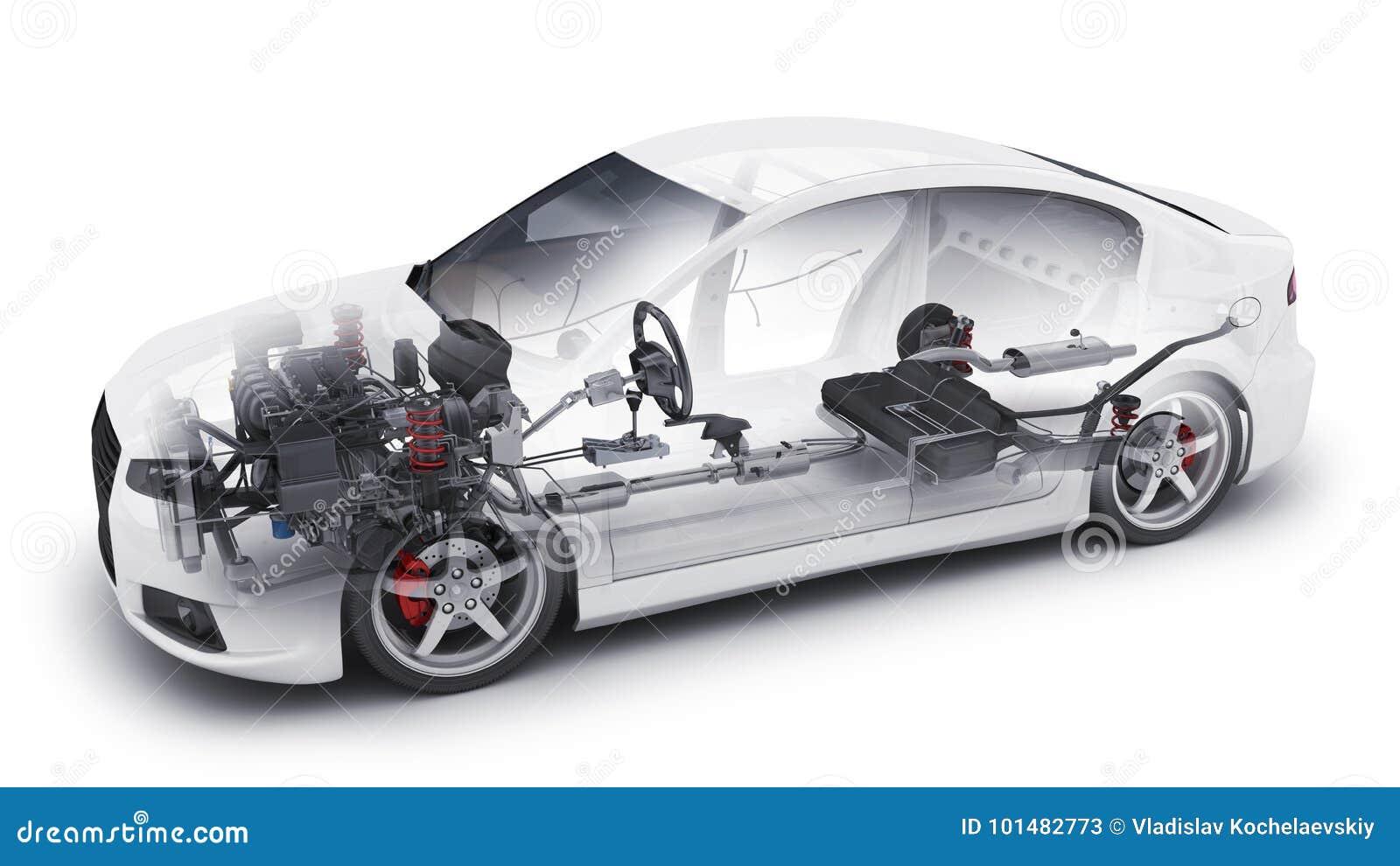 Car Interior Parts >> Transparent Car And Interior Parts Stock Illustration