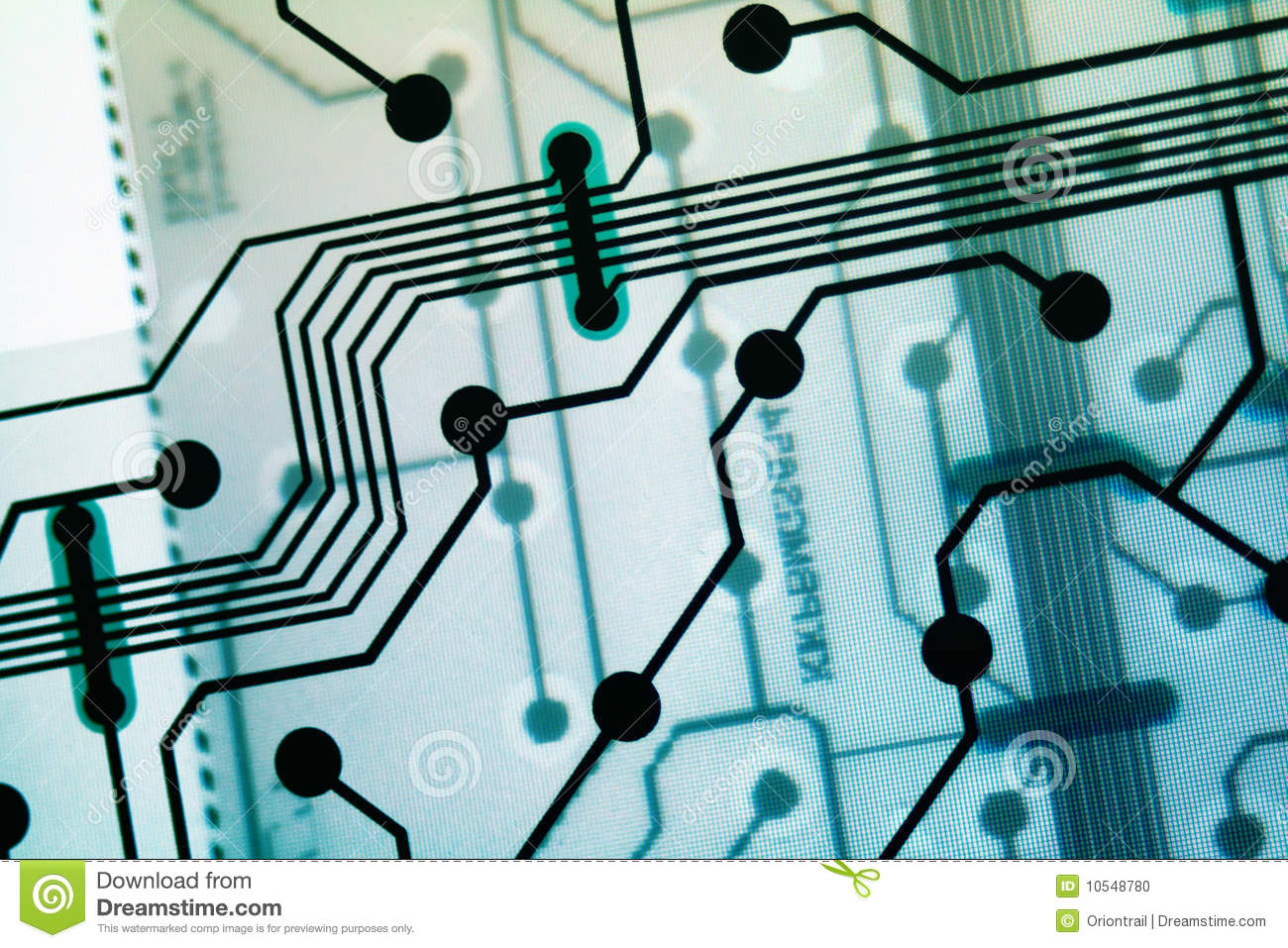 Transparent circuit board stock photo  Image of information - 10548780
