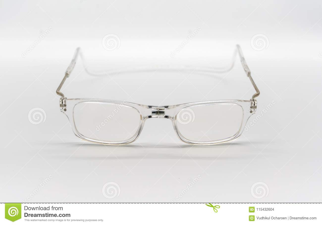 A Transparent Clear Plastic Eye-wear Or Eye-glasses On Stock Photo ...