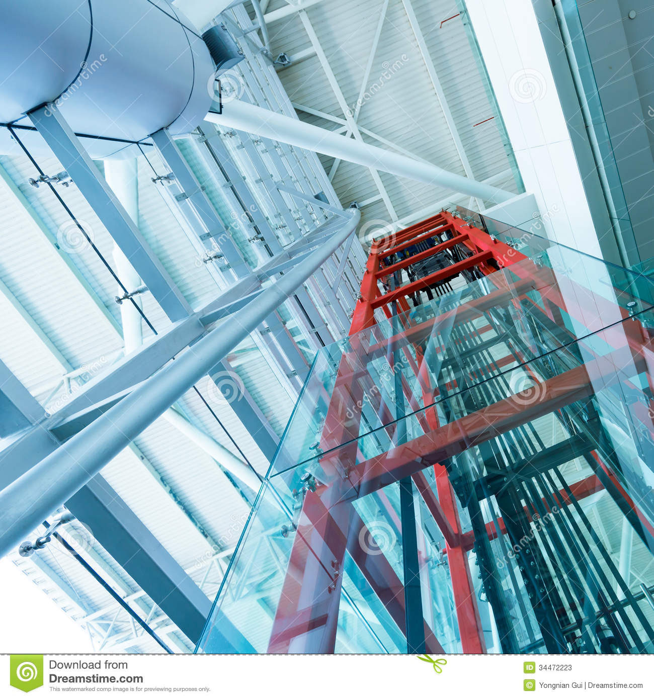 Transparent Elevator Stock Image Image Of Construction