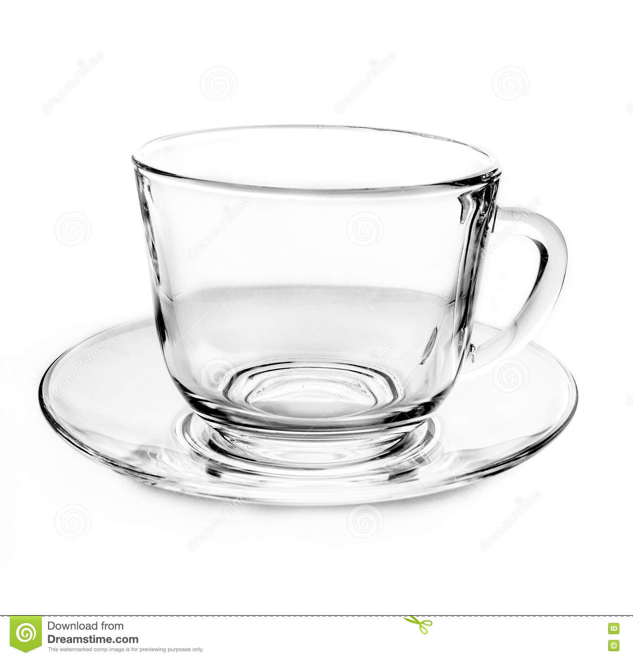 Transparent empty tea cup stock image. Image of background ...