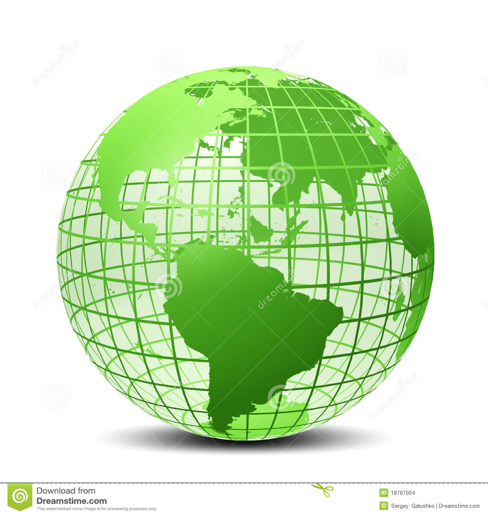 transparent la couleur verte de globe illustration stock illustration du g ographie. Black Bedroom Furniture Sets. Home Design Ideas