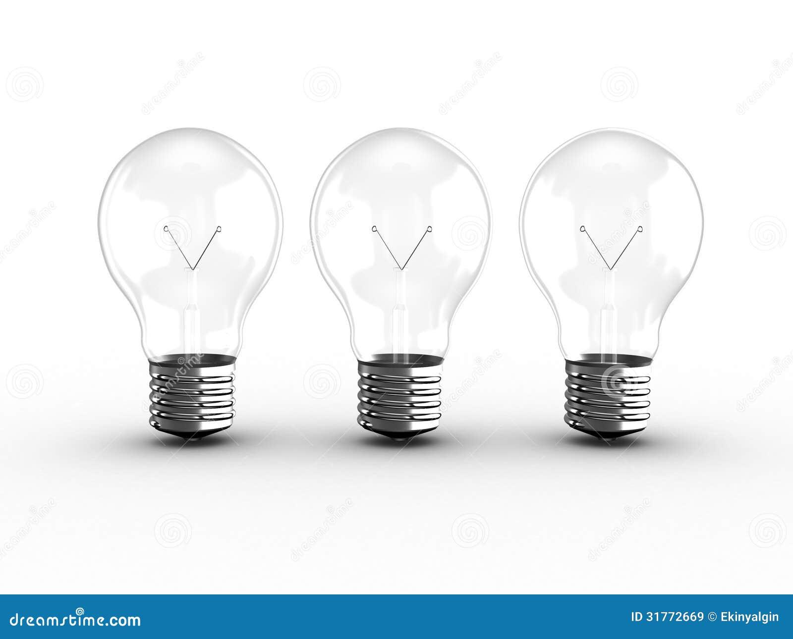 Transparent Light Bulb Group Stock Illustration Illustration of