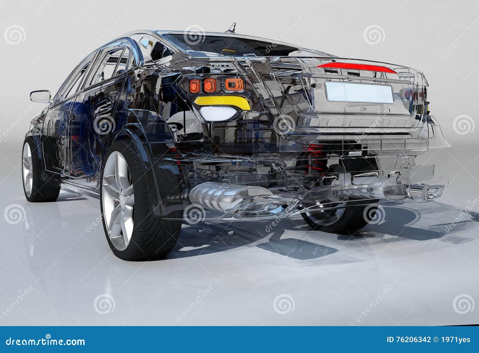 transparent model cars stock illustration image 76206342. Black Bedroom Furniture Sets. Home Design Ideas