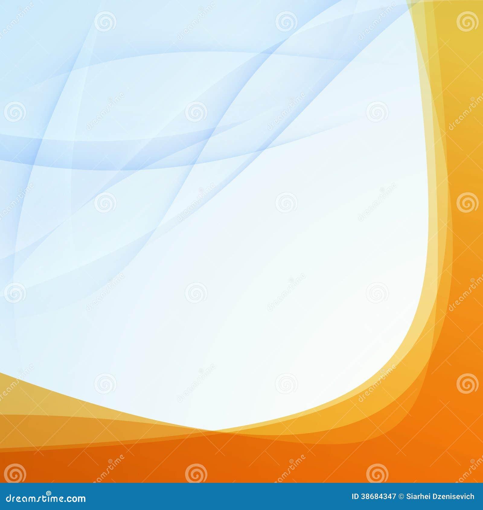 transparent orange border folder template