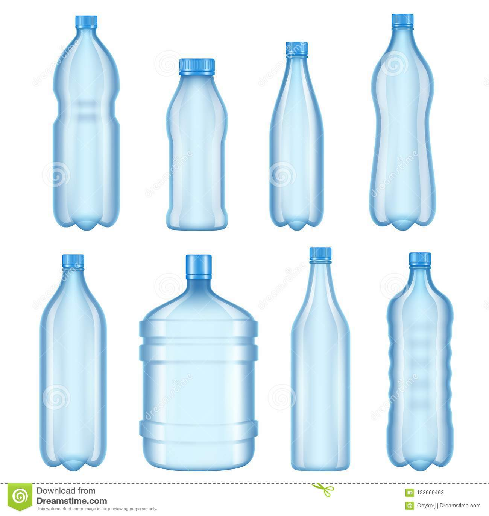 Transparent Plastic Bottles  Vector Illustrations Of Bottles