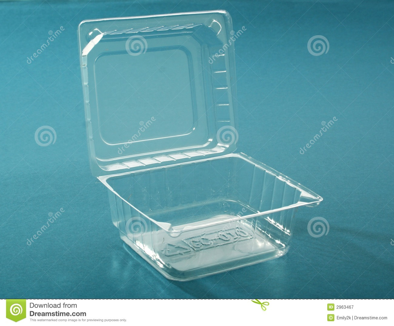 Transparent Plastic Box Stock Image Image Of Container