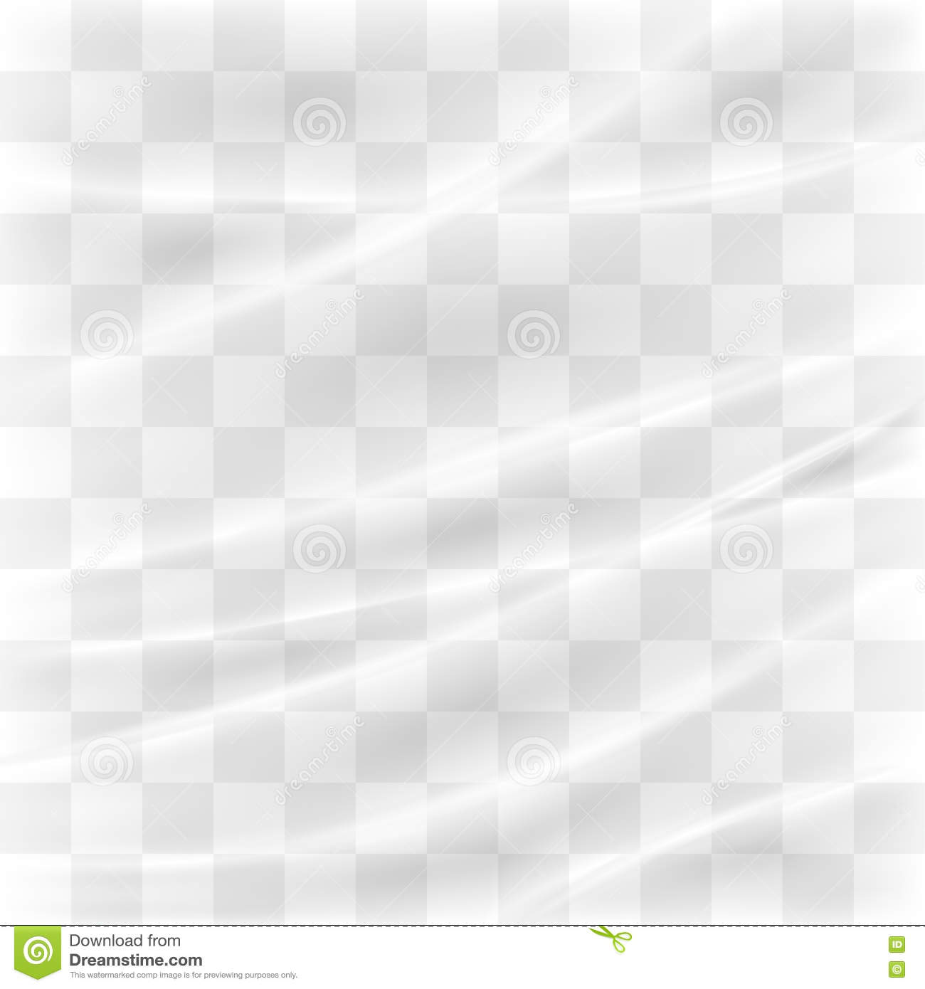 Transparent plastic warp stock vector. Illustration of
