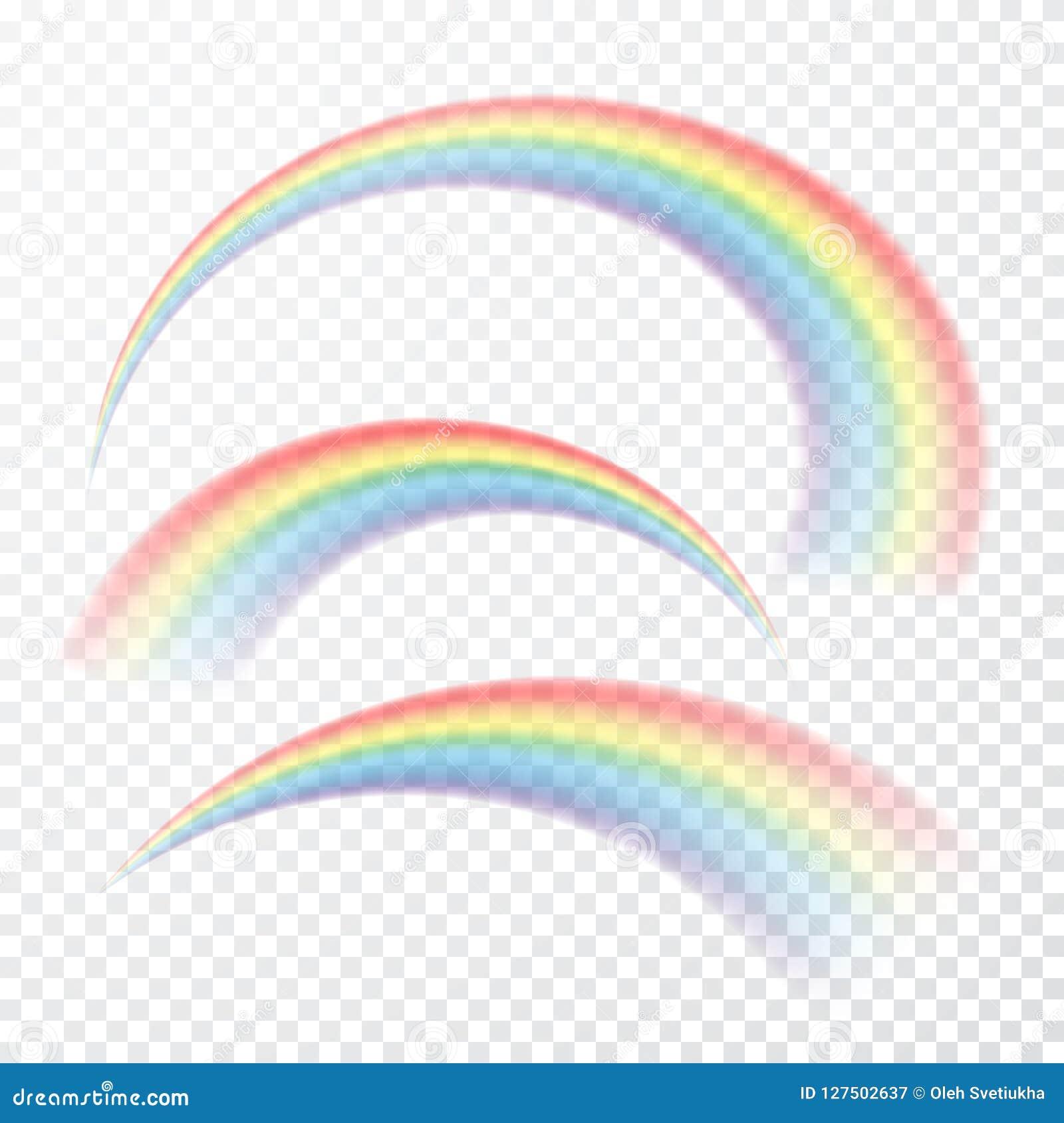Transparent rainbow. Vector illustration. Realistic raibow on transparent background