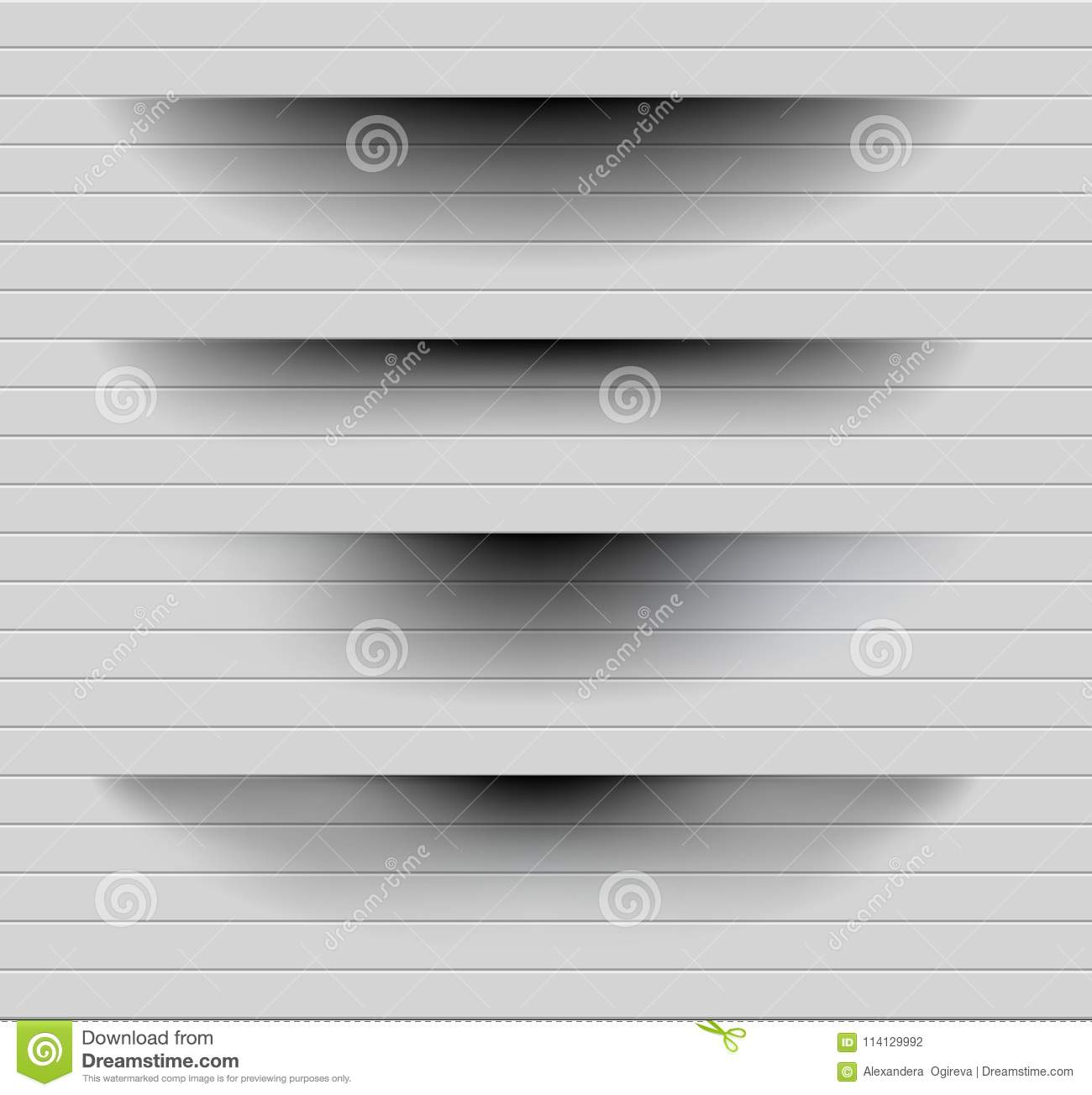 Transparent realistic paper shadow effect set. Web banner. Element for advertising and promotional message on