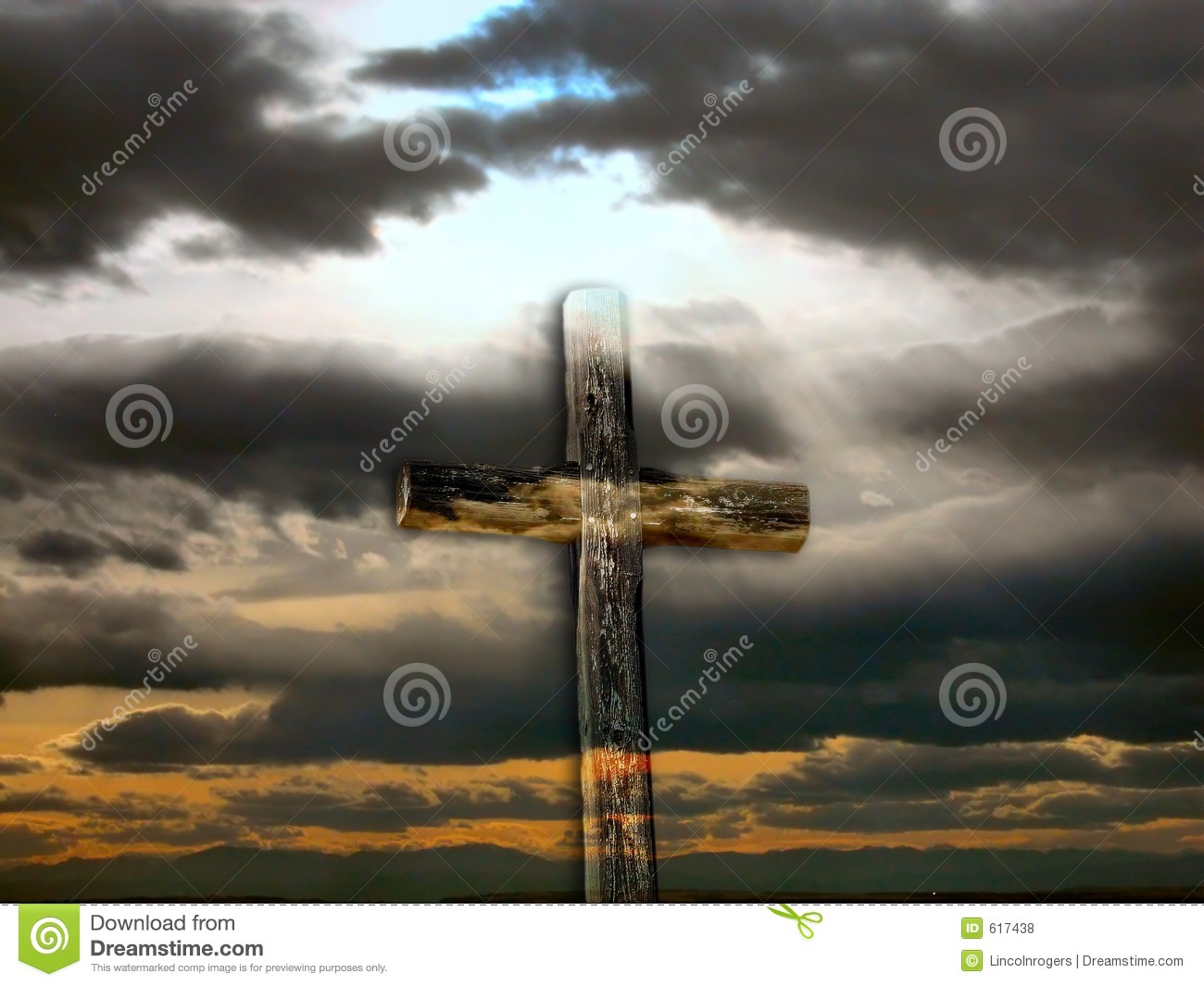 Transparent Rugged Cross