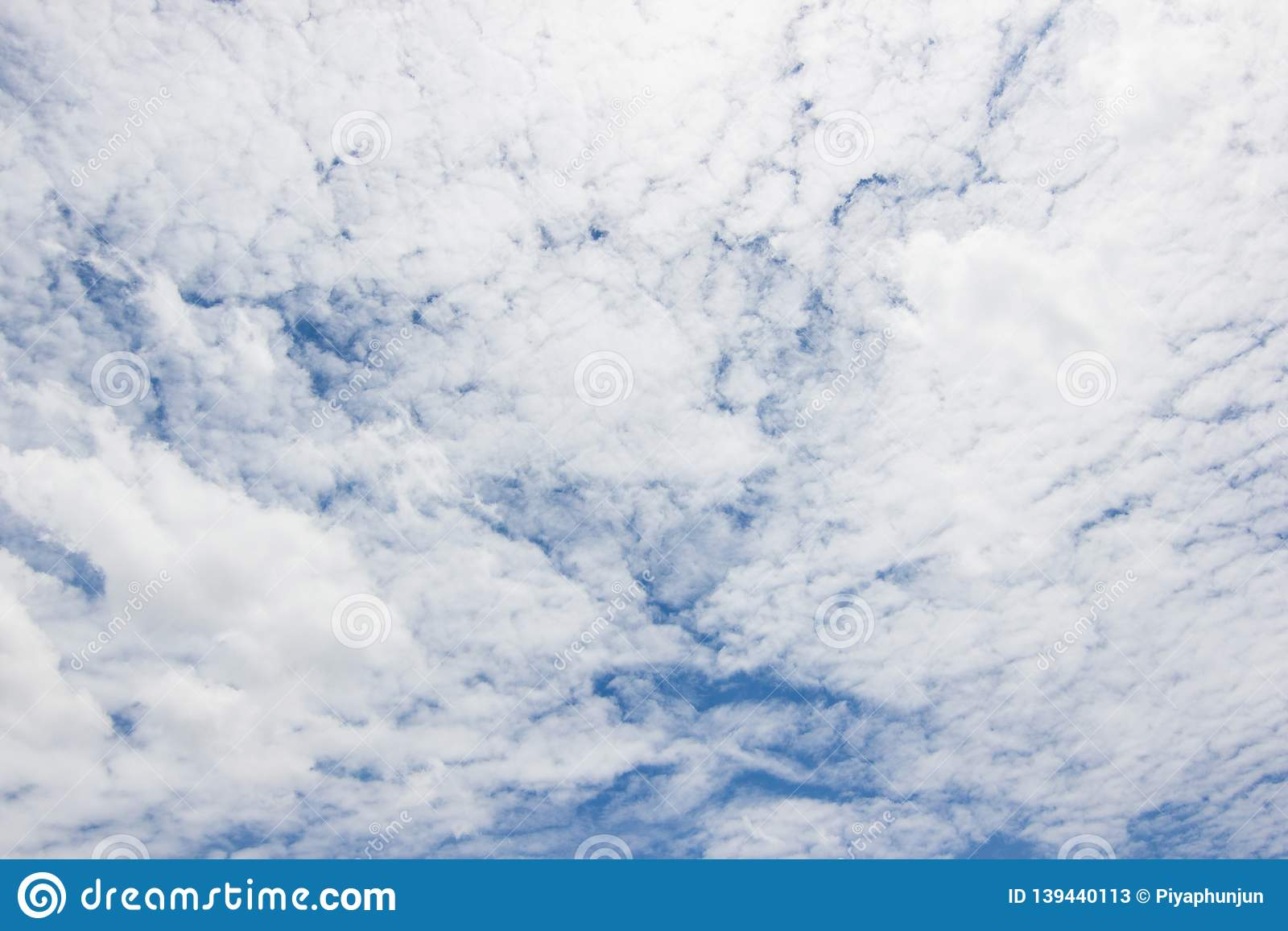 Transparent Sky With Clouds And Atmospheric Afternoon Stock Image