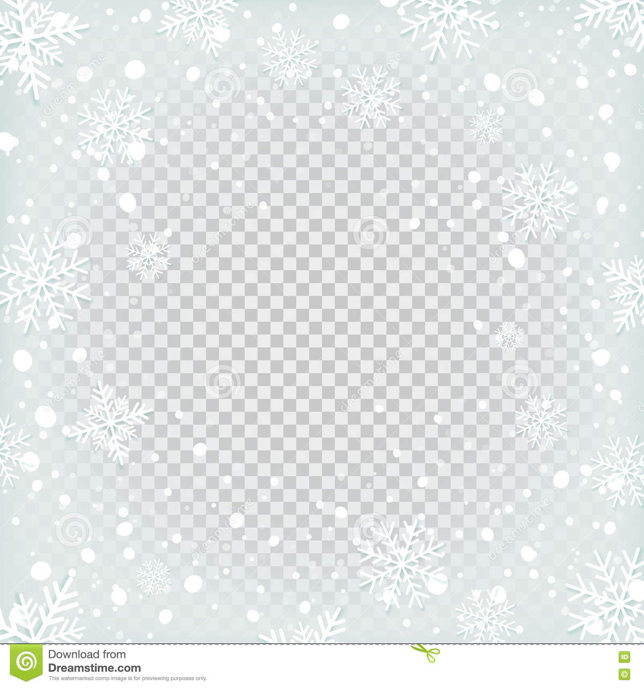 transparent snow background stock vector illustration of