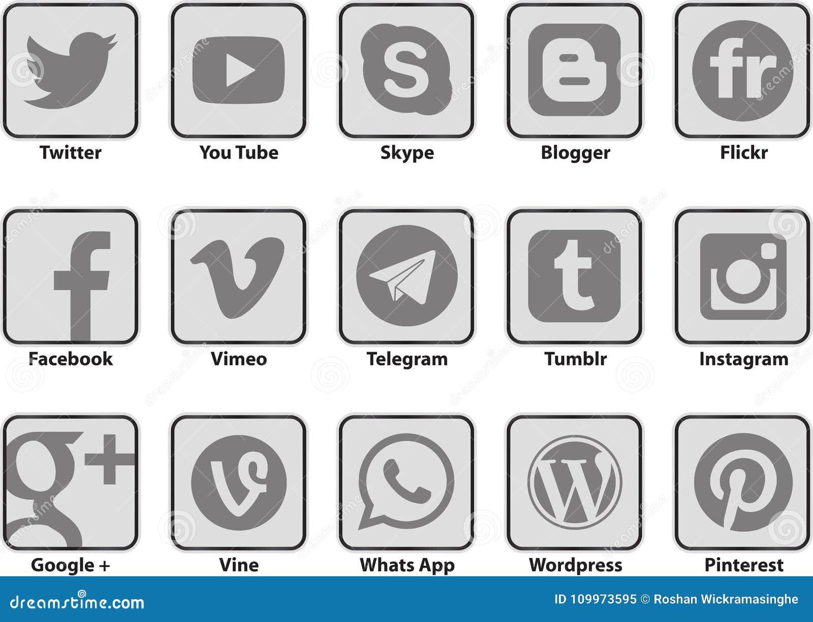 Transparent Social Media Networking Editorial Image Illustration