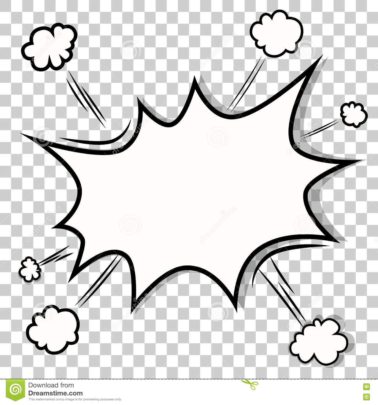Transparent Template. Boom Comic Book Explosion Stock Vector ...