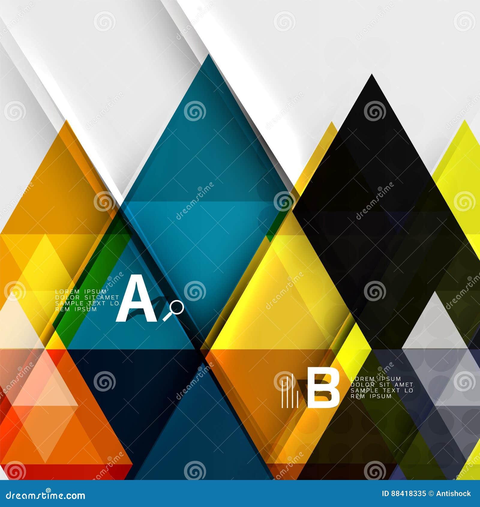Transparent Triangle Tiles Banner Stock Illustration - Illustration ...