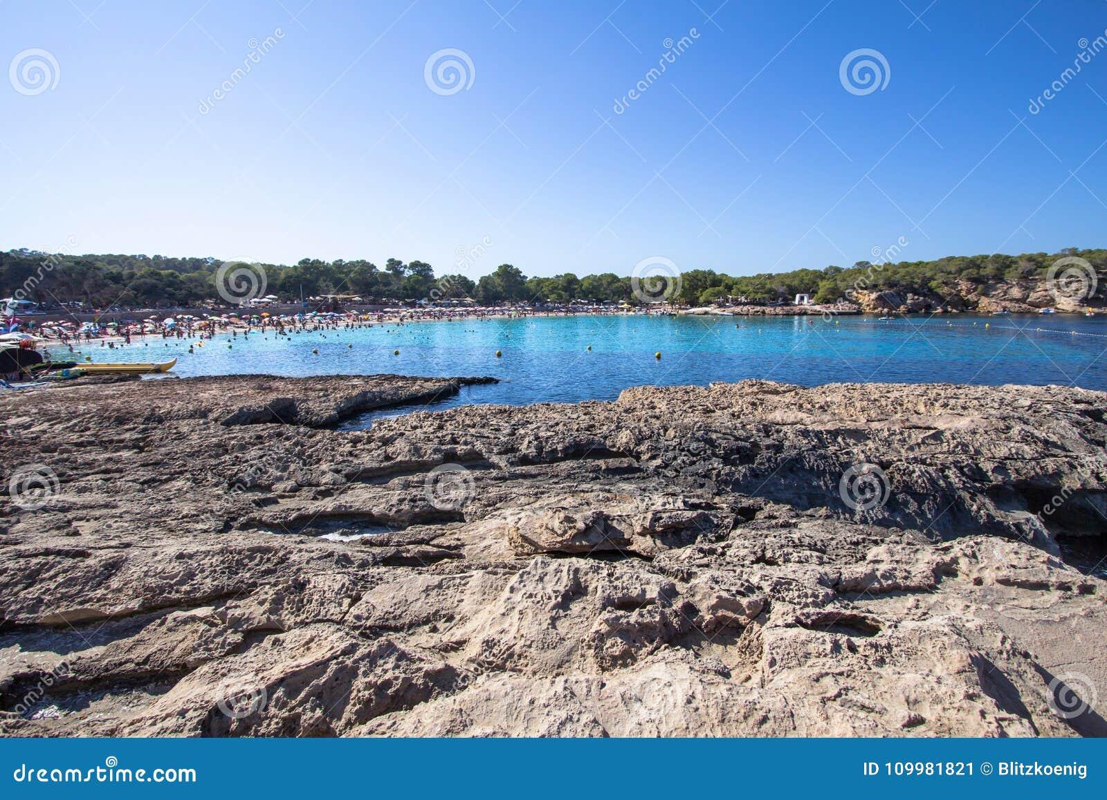 Cala Bassa, Ibiza, Spain stock image  Image of illetes