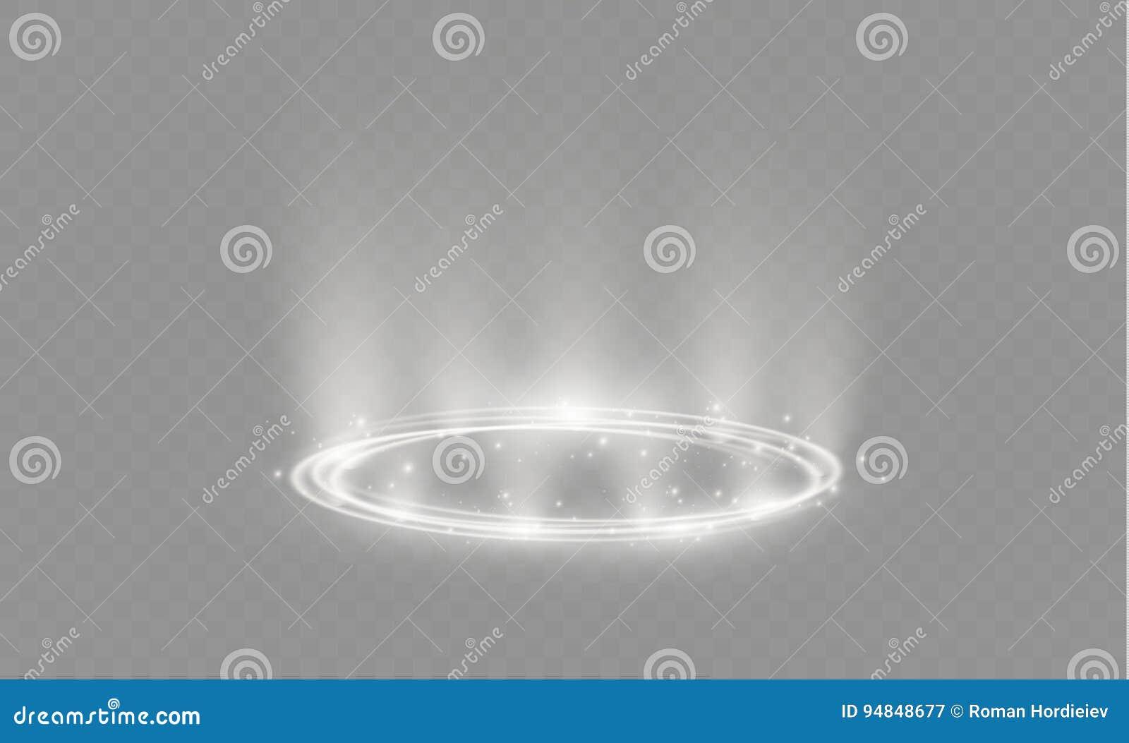 Transparenter Lichteffekt Des Kreisblendenflecks Abstrakte ...