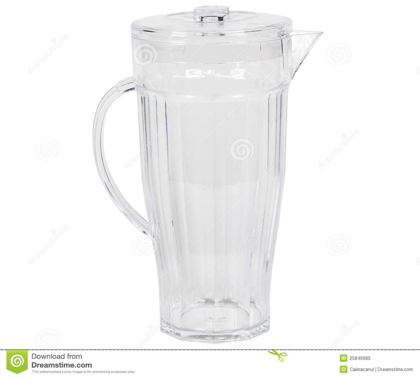 Transparentes Wasserdekantiergefäß