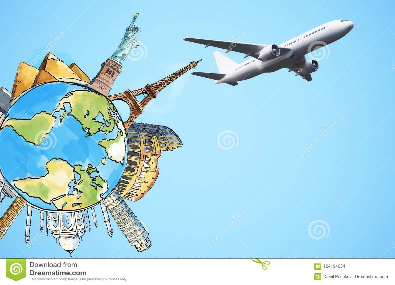 transporation and worldwide journey concept stock illustration