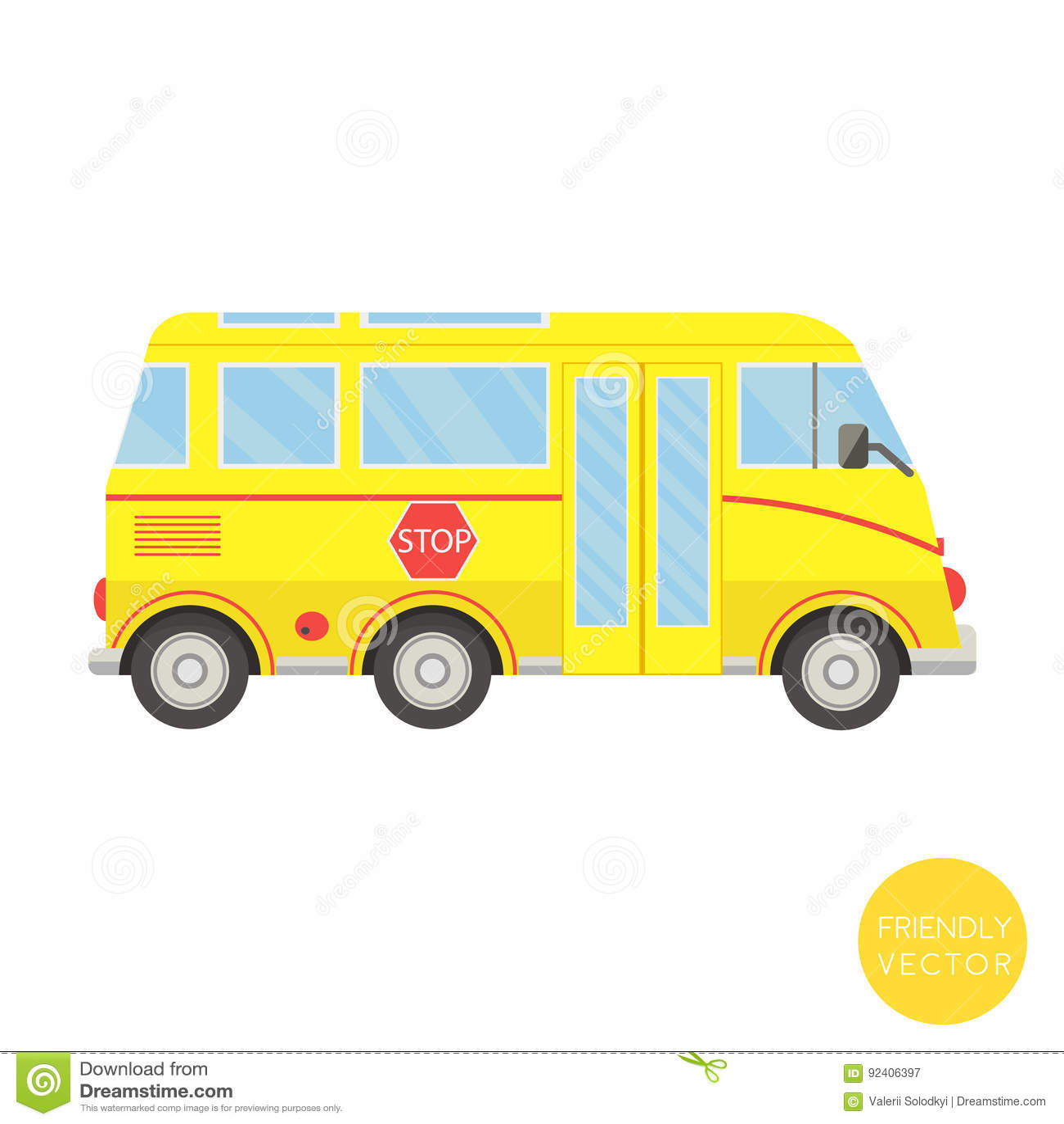 Transport De Dessin Animé Illustration D Autobus Scolaire