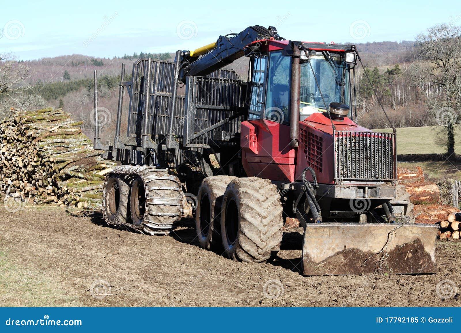 Transport de enregistrement de camion de bois de for Bois de construction