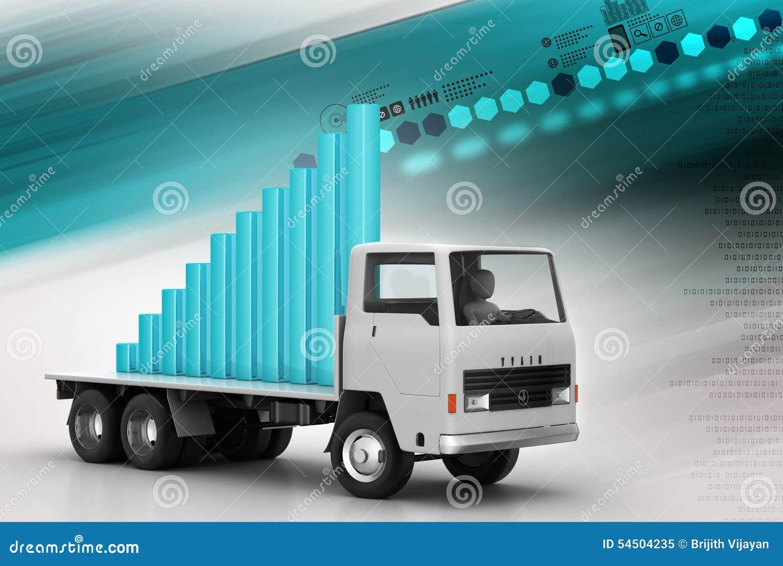 Transport de graphique de gestion dans le camion