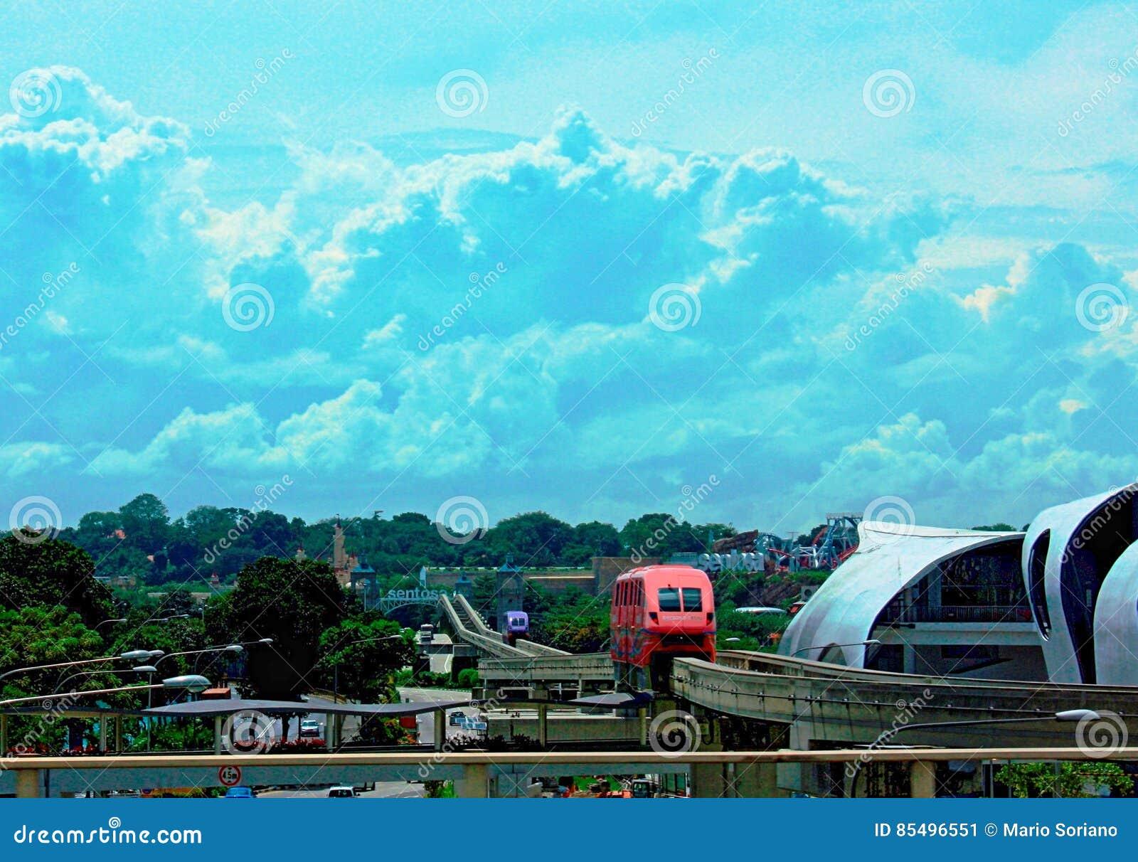 Transport de monorail à Singapour