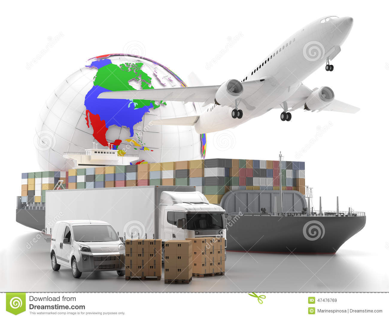 transport des marchandises international avec le globe sur le fond image stock image du fret. Black Bedroom Furniture Sets. Home Design Ideas