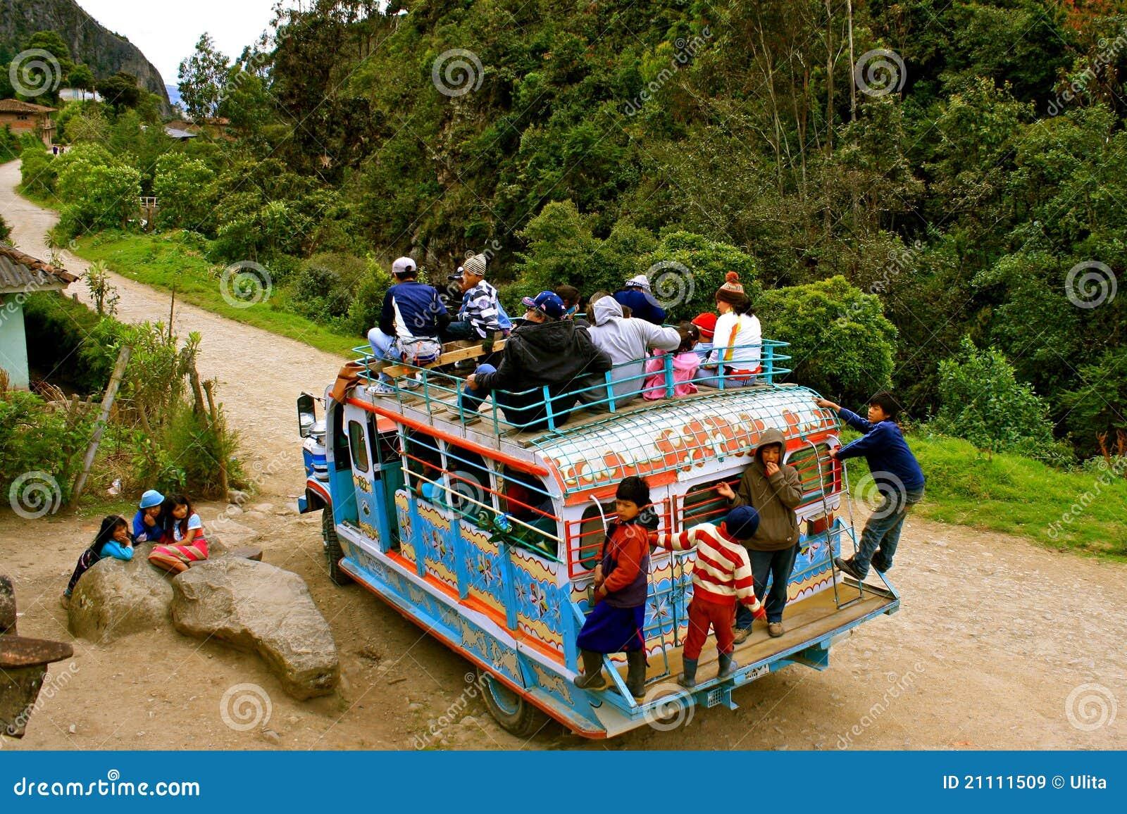 Transport en commun en Colombie rurale