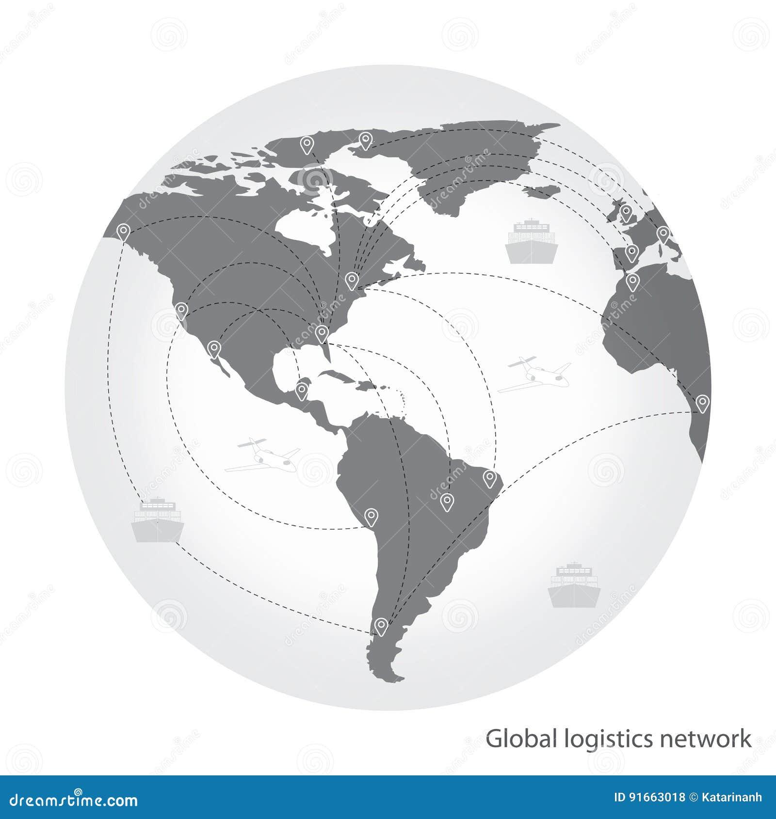 Transport Global De Réseau De Logistique Association Globale