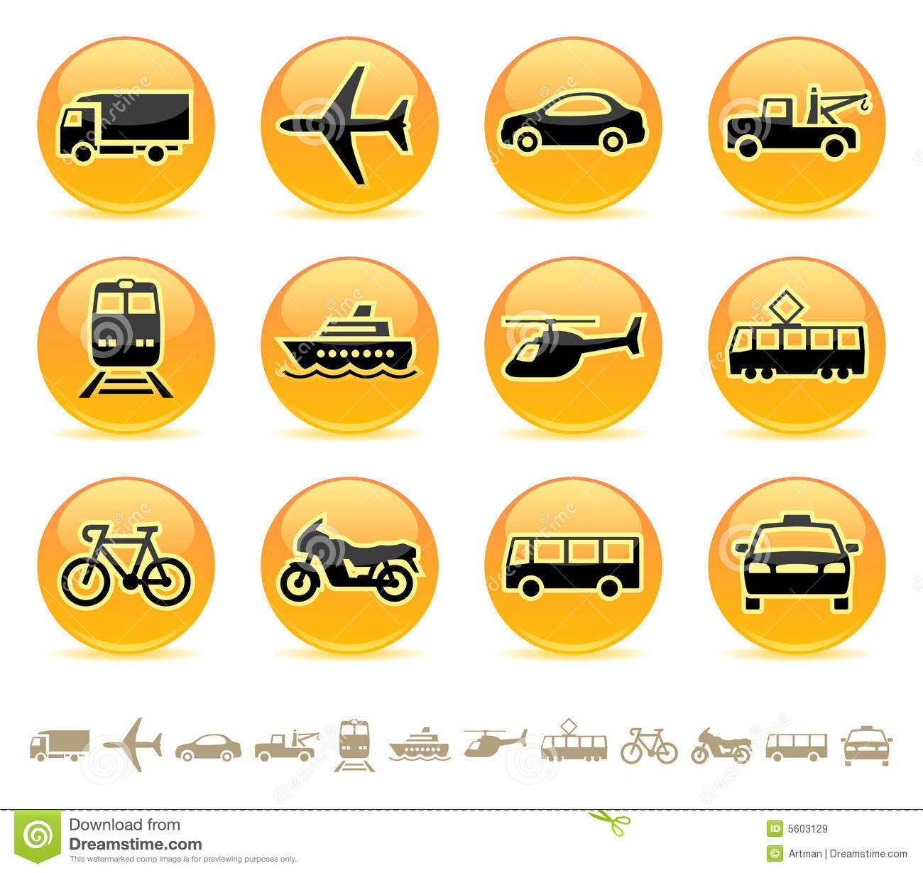 Transport Icons / Buttons 3 Royalty Free Stock Images - Image: 5603129