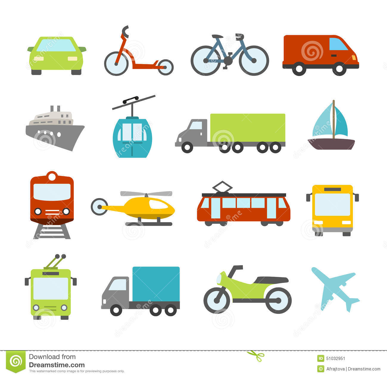 Cars Names And Logos >> Transport Icons In Flat Design Style Stock Vector - Illustration of public, helicopter: 51032951